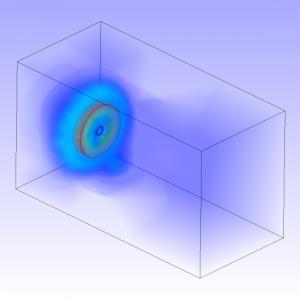 شبیه سازی فن محوری و تخلیه هوای اتاق