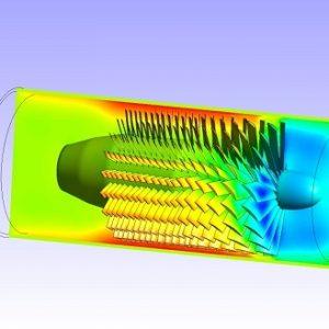 شبیه سازی کمپرسور محوری یک توربین گازی