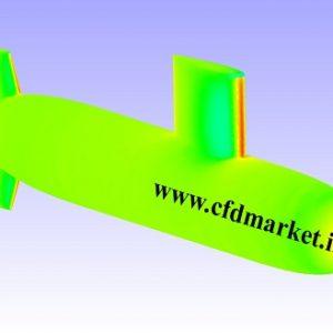 شبیه سازی زیردریایی و محاسبه نیروی درگ توسط فلوئنت