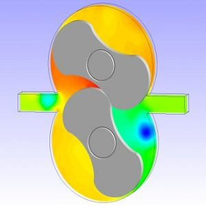 شبیه سازی جریان در پمپ دنده ایی