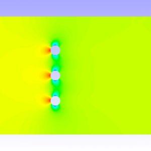 شبیه سازی انتقال حرارت اطراف یک دسته فین مخروطی