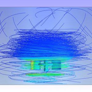 شبیه سازی همزن عمودی سانتریفیوژ توسط انسیس فلوئنت