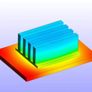 شبیه سازی خنک کاری تراشه کامپیوتر توسط انسیس فلوئنت