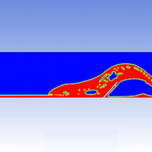 شبیه سازی پرش هیدرولیکی در خروجی سد