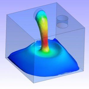 شبیه سازی سیال غیرنیوتنی دیلاتانت