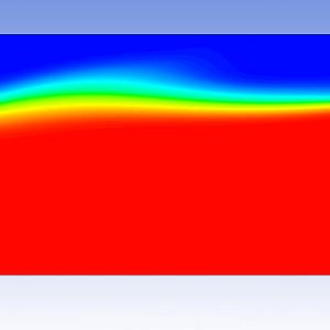 شبیه سازی موج در کانال روباز