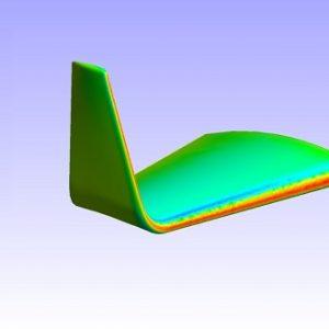 شبیه سازی وینگلت و جریان گردابه ایی اطراف بال هواپیما